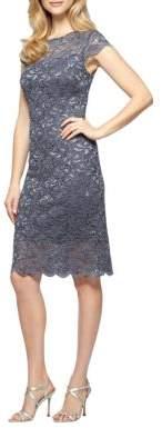 Alex Evenings Plus Sheath Lace Dress