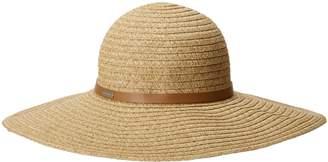 Betmar Ramona Straw Braid Floppy Hat, Natural Multi, Fits Most