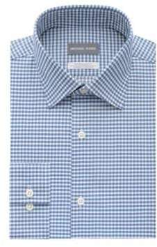 Michael Kors Checkered Regular-Fit Dress Shirt