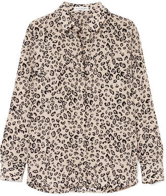 Altuzarra Chika Leopard-print Silk Crepe De Chine Shirt - Beige