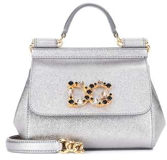 Dolce & Gabbana Sicily Mini leather shoulder bag