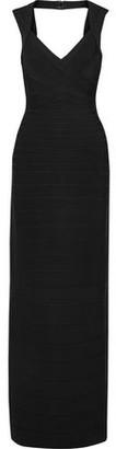 Herve Leger Estrella Open-Back Bandage Gown