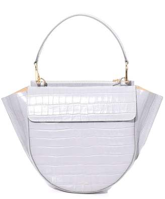Wandler Hortensia Medium Croco Bag in Mouse
