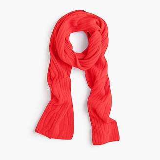 J.Crew Ribbed cable-knit scarf in everyday cashmere