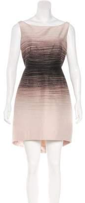 Halston Sleeveless Printed Mini Dress