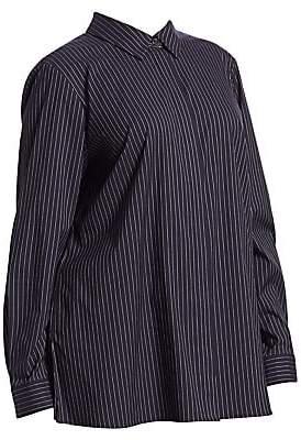 Lafayette 148 New York Lafayette 148 New York, Plus Size Women's Bray Stripe Blouse