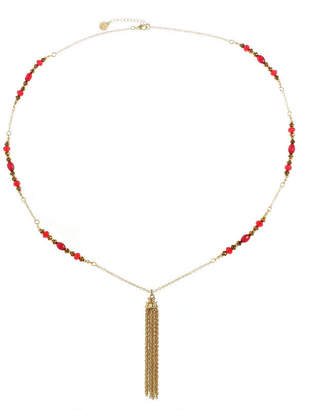 Liz Claiborne Womens Red Pendant Necklace