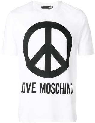 Love Moschino Peace Love T-shirt