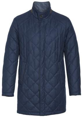 Canali Reversible Quilted Wool Coat
