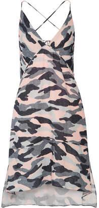Vix Ida Camouflage-print Linen-blend Mini Dress - Blush