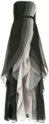 Halston front slit ruffle dress