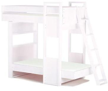 Argington Uffizi Bunk Bed- White Support with White Beds