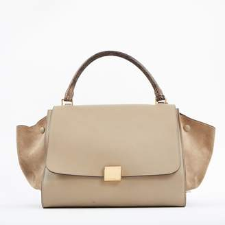 Celine Python print Leather Handbag