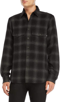 Marcelo Burlon County of Milan Grey Sham Graphic Back Flannel Shirt