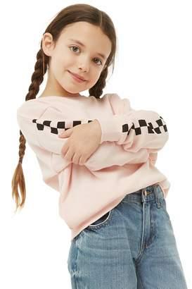 Forever 21 Girls Checkered-Trim Sweatshirt (Kids)