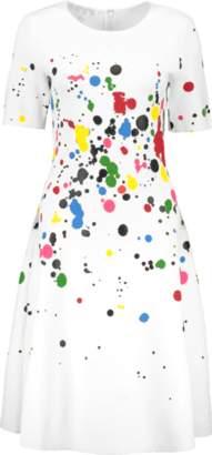 Oscar de la Renta Paint Splatter Knit Dress