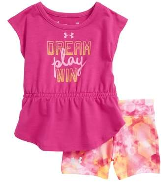 Under Armour Dream Play Win Peplum Tee & Shorts Set