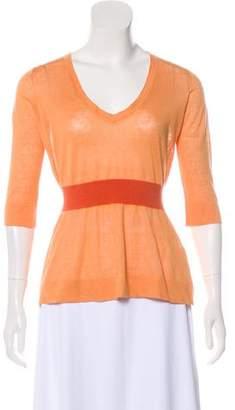 Emporio Armani Linen Knit Top
