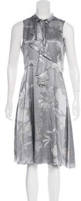 Emporio Armani Printed Silk Dress