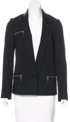 Thomas Wylde Zip-Accented Fitted Blazer