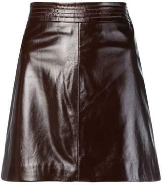 Arma leather a-line skirt