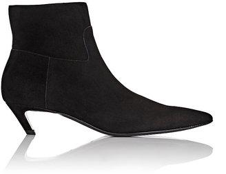 """Balenciaga Women's """"Broken""""-Heel Suede Ankle Boots $825 thestylecure.com"""
