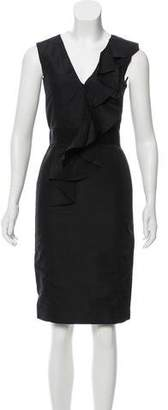Oscar de la Renta Ruffled Sheath Dress