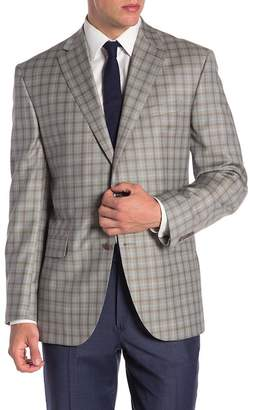 Jack Victor Conway Gray Plaid Two Button Notch Lapel Wool Sport Coat