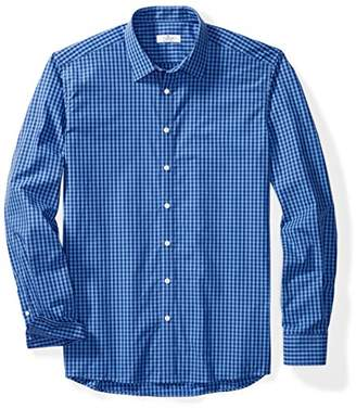 Clifton Heritage Men's Big&Tall Classic Fit Long-Sleeve Spread Collar Gingham Button-Up Shirt LT