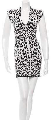 Torn By Ronny Kobo Patterned Mini Dress