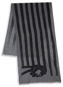 John Varvatos Peace Flag Merino Wool Scarf