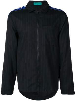Paura DANILO X KAPPA logo striped shirt jacket