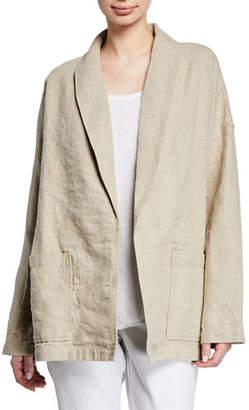 Eileen Fisher Organic Linen Shawl Collar Jacket