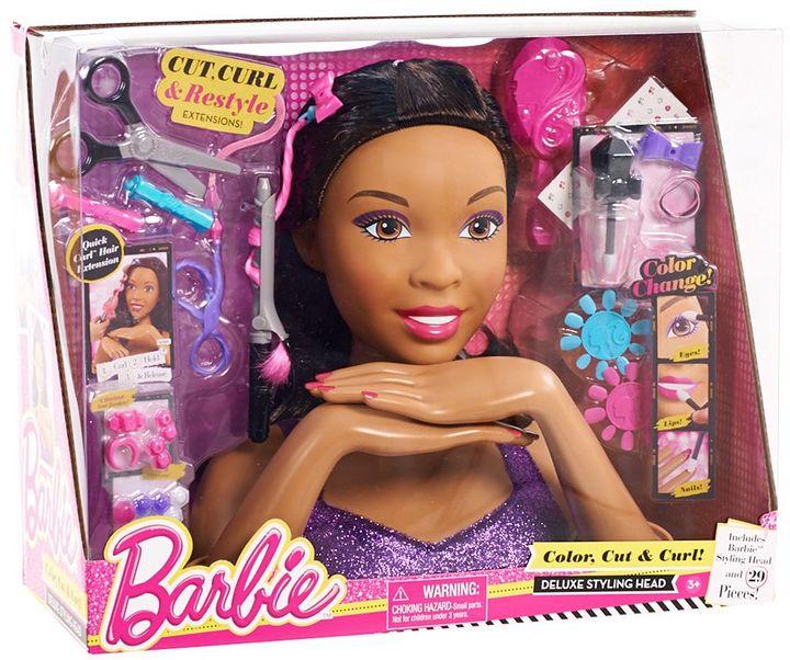 Mattel Barbie Deluxe Brown Hair Styling Head by Mattel