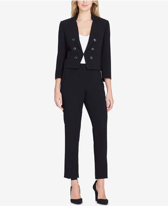 Tahari ASL Embellished Wing-Collar Pantsuit, Regular & Petite