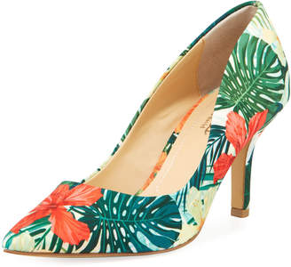 Charles by Charles David Sasha Floral-Print Point-Toe Pumps
