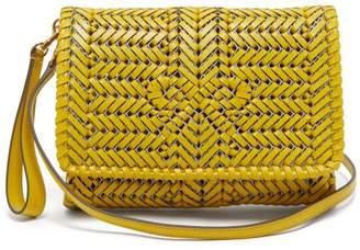 Anya Hindmarch The Neeson Woven Leather Cross Body Bag - Womens - Yellow