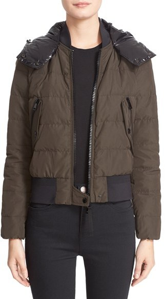 Moncler Women's Moncler 'Agathe' Water Resistant Hooded Down Jacket