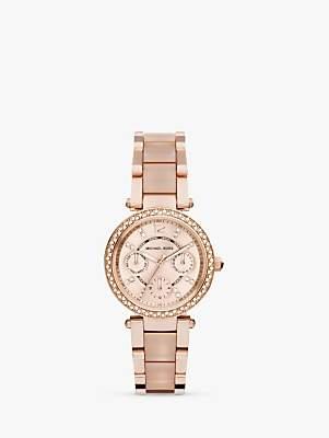 Michael Kors MK6110 Women's Parker Stainless Bracelet Strap Watch, Rose Gold