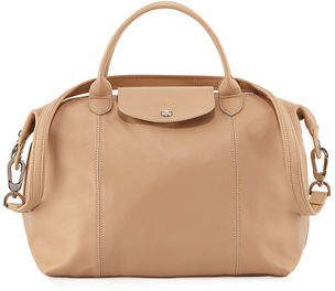 Longchamp Le Pliage Cuir Medium Handbag
