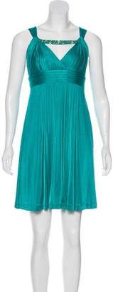 BCBGMAXAZRIA Embellished Mini Dress