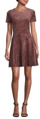 BCBGMAXAZRIA Darra Faux-Suede Dress $268 thestylecure.com