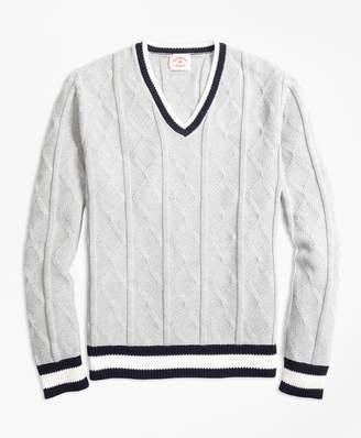 Brooks Brothers Cotton Tennis Sweater