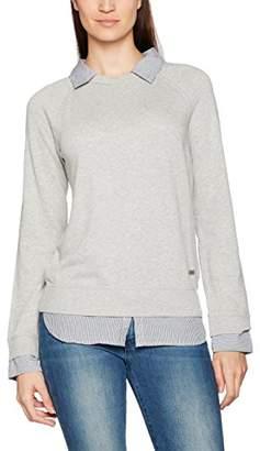 Napapijri Women's Berba Sweatshirt, (Light Grey Mel), Large