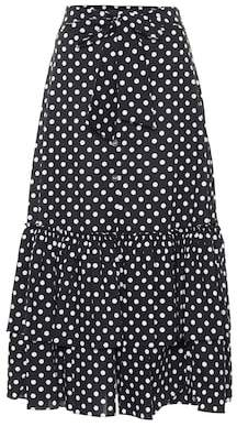 Caroline Constas Stretch cotton midi skirt
