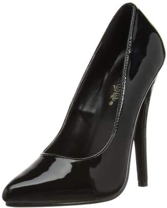 Devious EU-DOMINA-420 Pumps Womens Black Schwarz (Blk pat) Size:EU 37 (UK 4) (US 7)