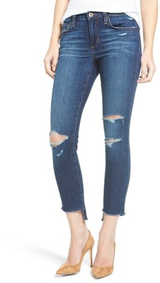 Women's Joe's Icon Ripped Step Hem Crop Skinny Jeans $179 thestylecure.com