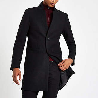 River Island Only and Sons black wool trench coat