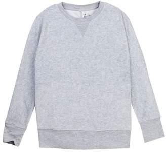 Zella Z By Dolman Velour Crew Sweater (Little Girls & Big Girls)