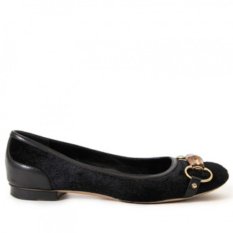 Gucci Black Pony-style calfskin Ballet flats